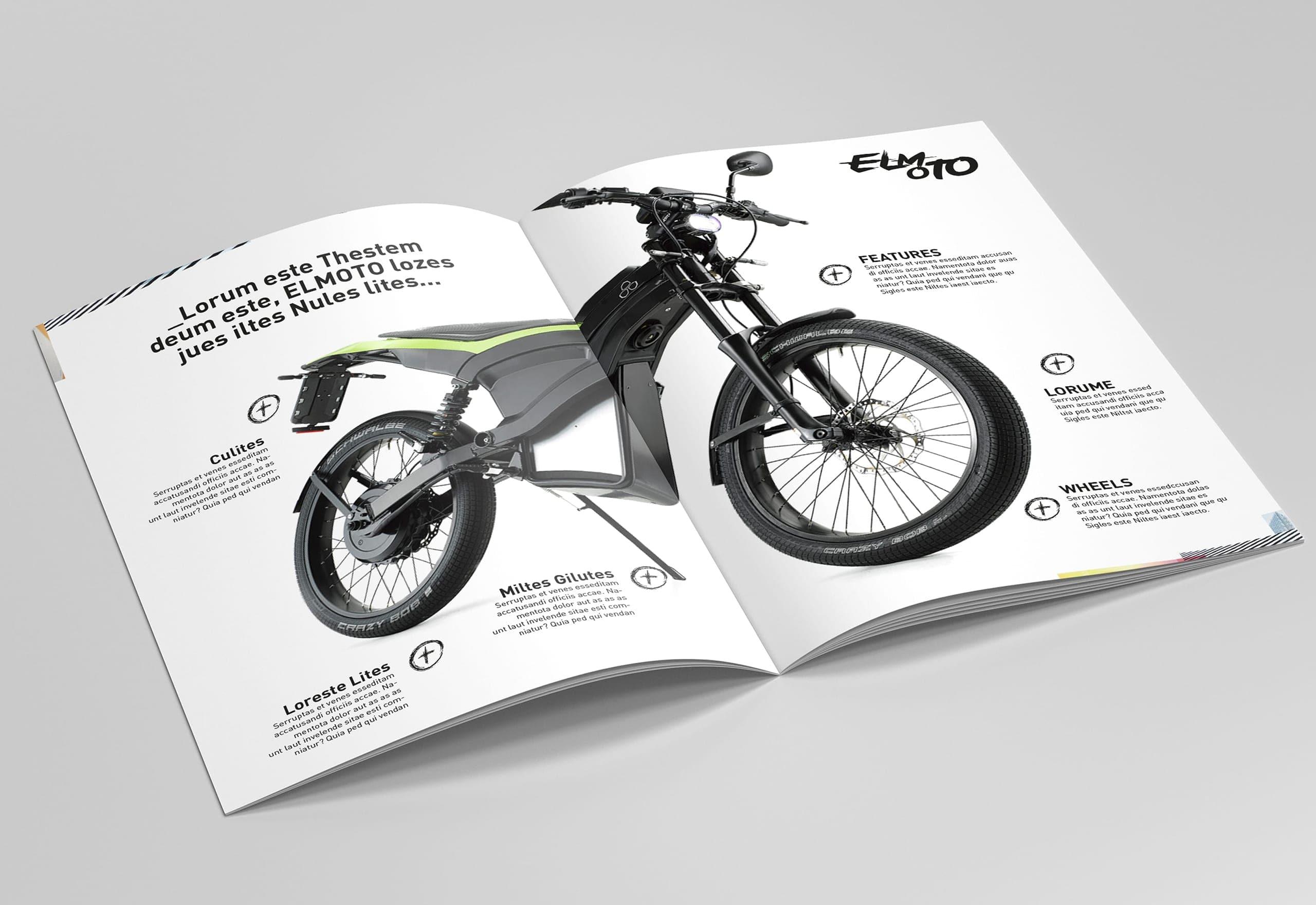 Design Broschüre Govecs Elmoto