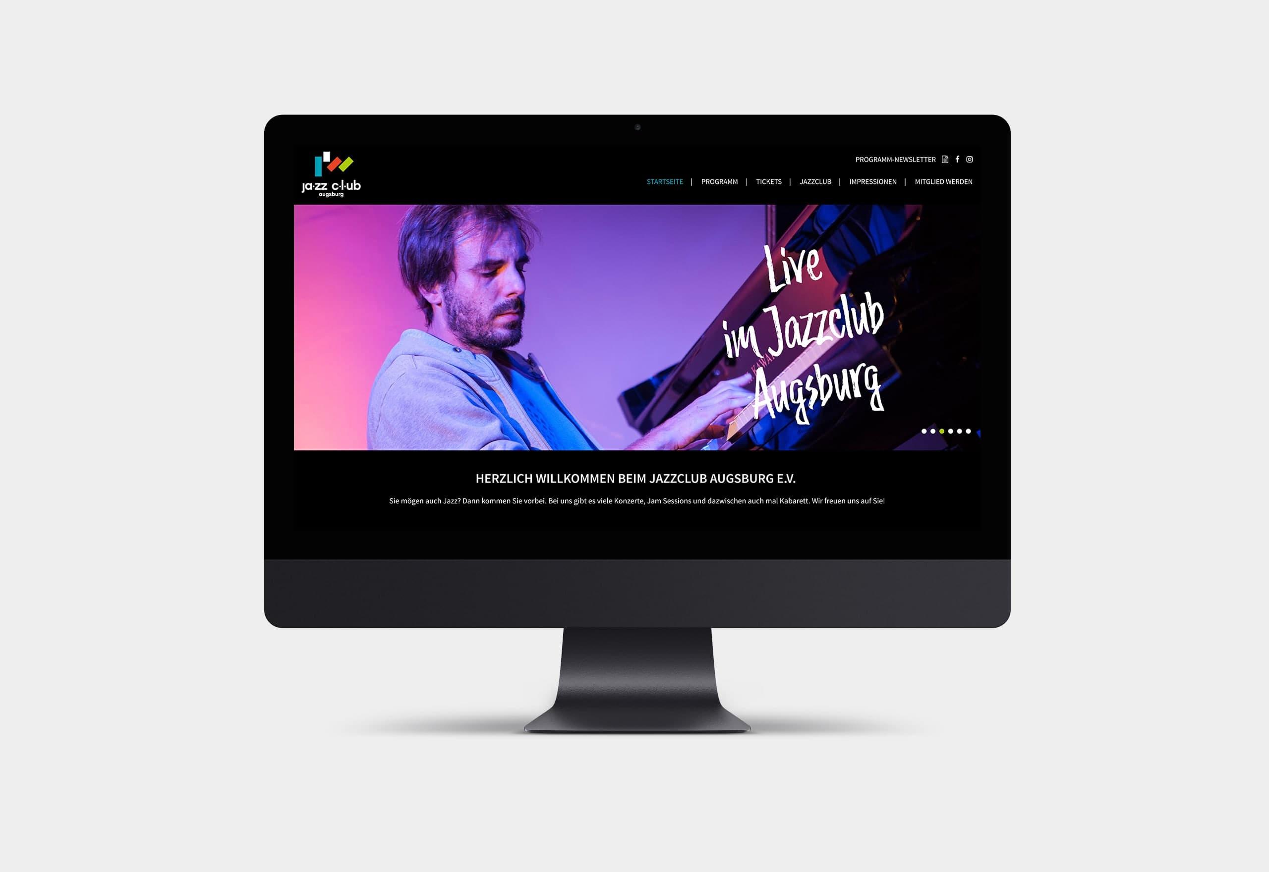 Webdesign Jazzclub Augsburg e.V.